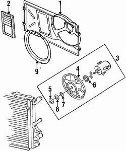 1998 Volkswagen Cabrio Engine Cooling Fan Blade Spacer  W