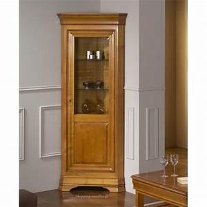 Vitrine Salle à Manger : vitrine d 39 angle 1 porte en merisier massif fontainebleau ~ Teatrodelosmanantiales.com Idées de Décoration