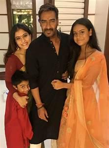 Pictures: Kajol and Ajay Devgn celebrate Diwali with kids ...