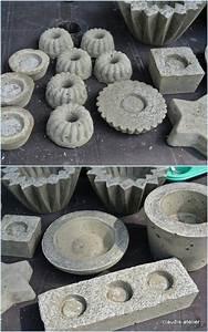 Basteln Mit Zement : beton beton formen muster beton gie en basteln mit beton und basteln ~ Frokenaadalensverden.com Haus und Dekorationen