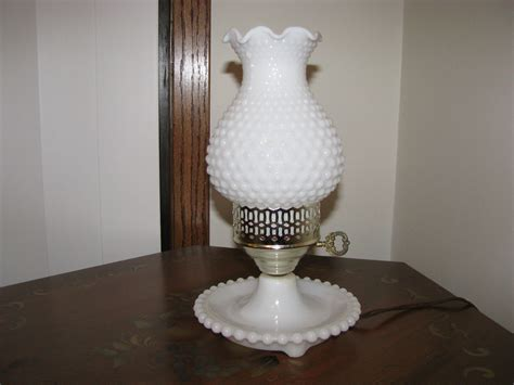 vintage white hobnail milk glass l vintage white milk glass hobnail hurricane l