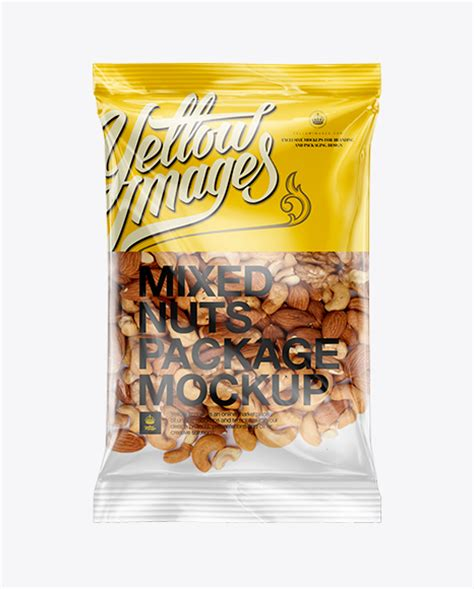 The biggest source of free photorealistic bag mockups online! Download Psd Mockup Almonds Cashews Clear Clear Plastic ...