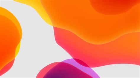 Apple Ios 13 Wallpaper Hd by Ios 13 Ipados Orange Wallpapers Hd Wallpapers Id 28574