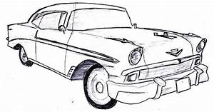 57 chevy bel air drawing sketch coloring page With 1955 chevy bel air