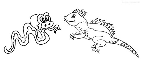 Coloring Iguana by Printable Iguana Coloring Pages For Cool2bkids