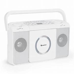 Poste Radio Sony : boomtown usb poste radio fm et lecteur cd portable mp3 blanc blanc ~ Maxctalentgroup.com Avis de Voitures