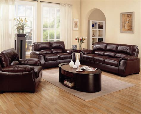 Rich Brown Leather Match Contemporary Living Room Sofa W