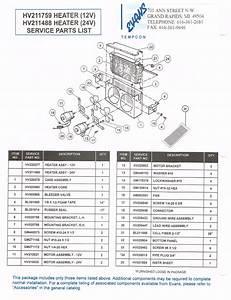 12v Truck Heater Hv211759  U0026 Hv220277