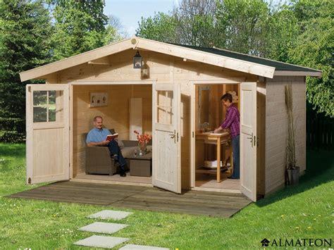 abri de jardin isole abri en bois brut 2 pi 232 ces 11 8 m2 hinterzarten 2 233 paisseur 28 mm almateon