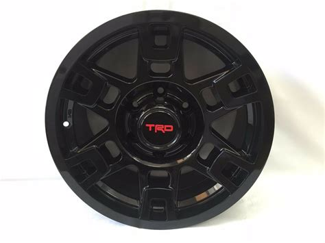 Set Of Four 4pc Toyota Trd Alloy Wheel Rim Black 4runner