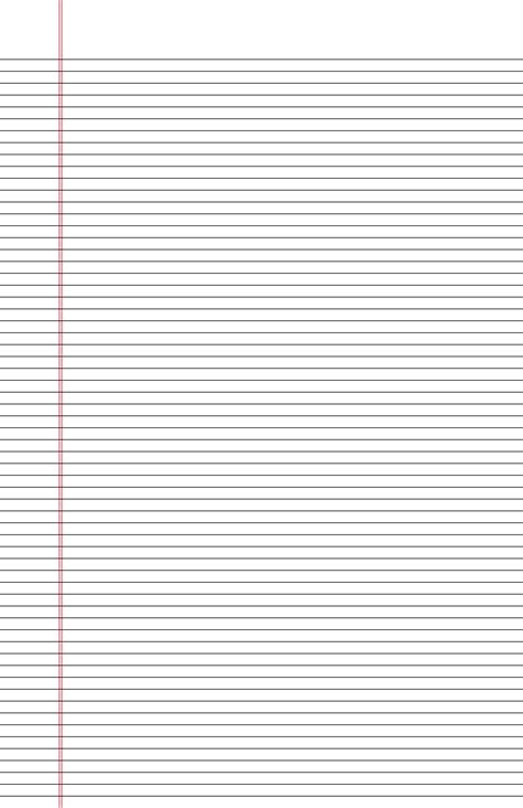 narrow ruled lined paper  ledger sized paper  portrait