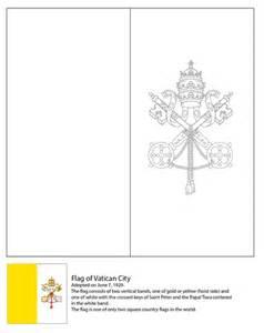 coloriage drapeau du vatican coloriages  imprimer