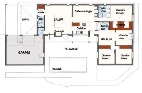 plan maison piscine interieure m 225 s de 1000 ideas sobre plan maison plain pied en plan maison maison plain pied y