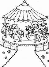 Carnival Coloring Pages Carousel Park Theme Printable Sheets Rides Flag Circus Amusement Brazil Colouring Fair Fun Template Getcolorings Bumper Cars sketch template