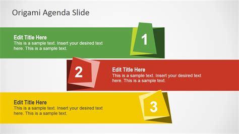 origami agenda   powerpoint slidemodel