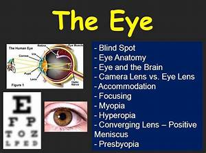 The Eye  U2013 Optics Lesson  U2013 High School Physics