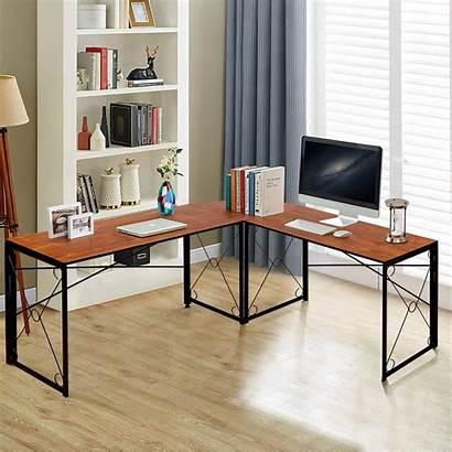 Desk Computer Folding Corner Shaped Office Laptop
