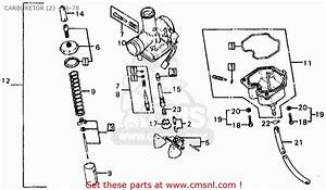 Honda Xl125 1978 Usa Carburetor  2  - 76-78