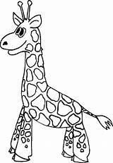 Giraffe Coloring Clipart Colour Colouring Giraffes Library Clip Unique sketch template