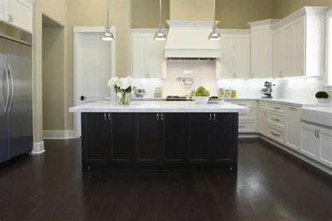 white carrera marble transitional kitchen sherwin