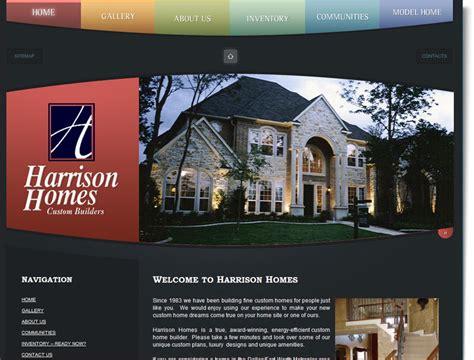 construction website design  harrison homes  web