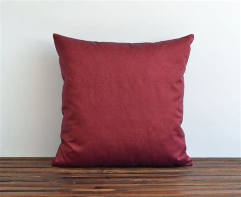 24 x 24 patio cushion covers 24x24 denim pillow cover indoor outdoor modern maroon