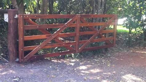 automatic wooden farm gate youtube farm gate wooden