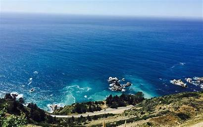 Highway Pacific Coast Driving Goals Simple Ocean