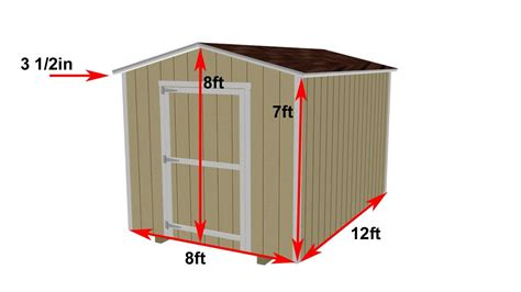 Garden Shed Plans 8x12 by 8x12 Shed Construction Details And Fly Around