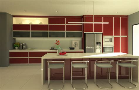 kitchen with large island 20 popular kitchen cabinet designs in malaysia recommend