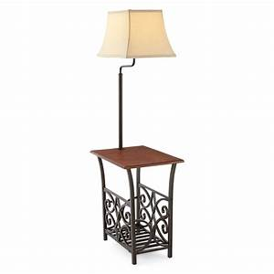 top 10 side table with lamp attached 2018 warisan lighting With vintage floor lamp with built in table