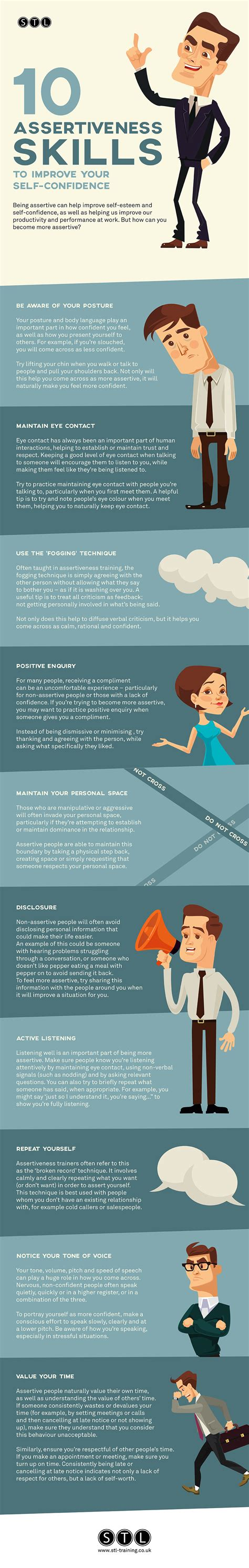 ten assertiveness skills  improve confidence