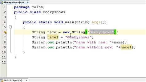 java string template 238 exle of declaration and initialization of string