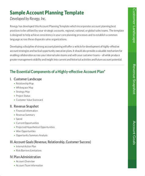 account plan 7 strategic account plan templates free sle exle format free premium templates