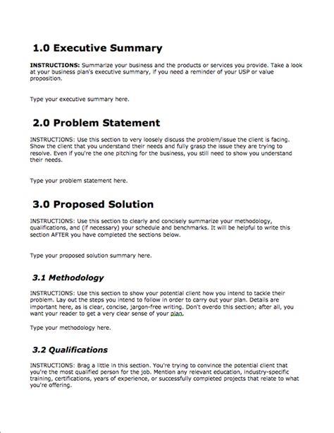 image result  proposal format  business proposal