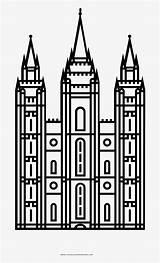 Temple Outline Lds Salt Lake Coloring Seekpng Clipart sketch template
