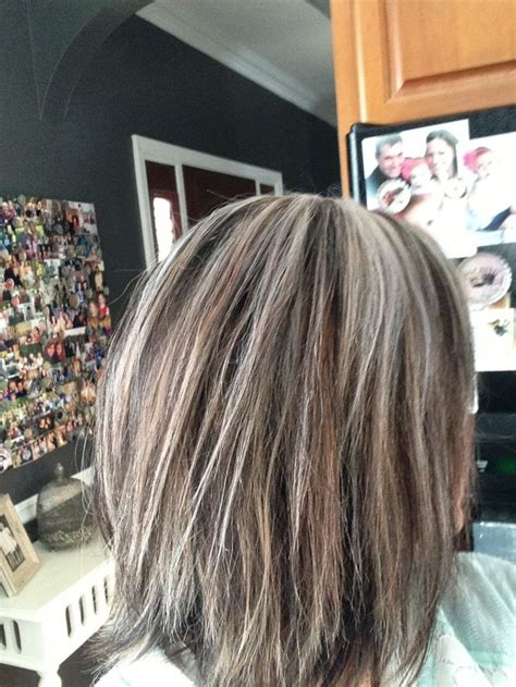 picture of chocolate granite grey hair color brown