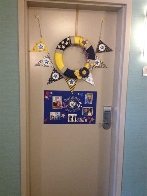 navy pir boot camp graduation hotel room door