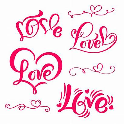 Calligraphy Word Vector Lettering Clipart Sign Heart