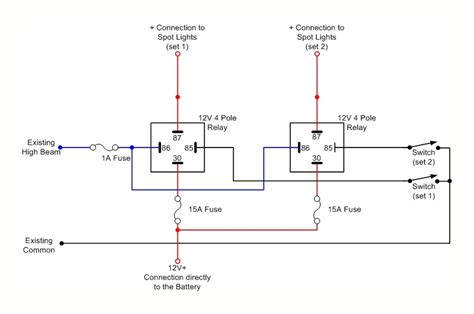 Neg Relay Switch Wiring Diagram by Spot Lights Wiring Diagram