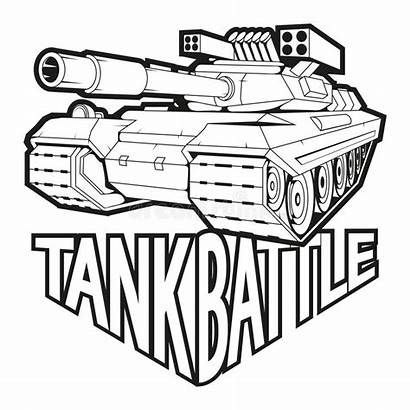 Tank Battle Vector Drawing Sketch Graphics