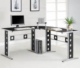 black glass computer desk ikea furniture breathtaking home office decoration design with