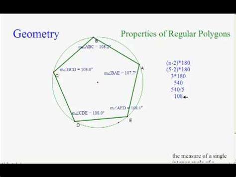 measure   interior angle   regular polygon youtube