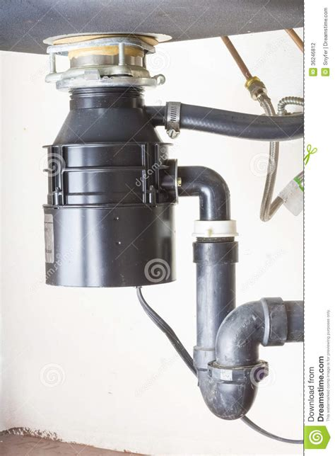 kitchen sink food grinder the sink stock photography image 36246812 5809