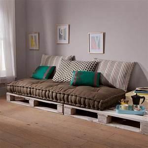 Choisir un beau matelas pour banquette idees deco en 45 for Tapis exterieur avec matelas canapé futon