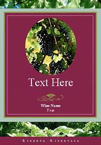 free personalized wine labels printable on laser and With inkjet wine labels