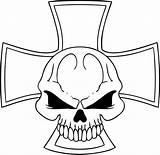 Coloring Skull Cross sketch template