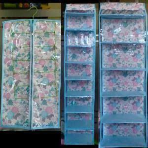 Distributor Rak Sepatu Gantung Cikarang jual paket organizer hanger jilbab gantungan tas rak