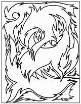 Coloring Abstract Pages Printable sketch template