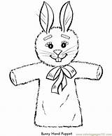 Coloring Easter Pages Bunny Puppet Animal Toy Hand Rabbit Puppets Printable Finger Print Bunnies Naf Sheets Toys Sketch Sheet Master sketch template